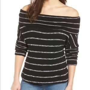 Caslon Nordstrom NWTs 3-IN1 Black&White Top